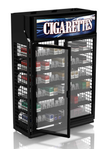 security doors for cigarette display