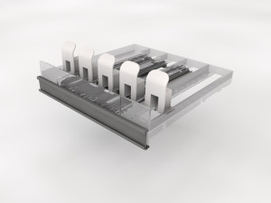 5 Wide Spring Tray - Silver