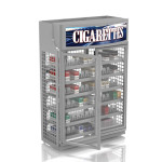 4 Foot Low Profile - Silver Cigarette Security Doors